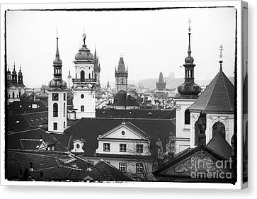 Towers Of Prague Canvas Print