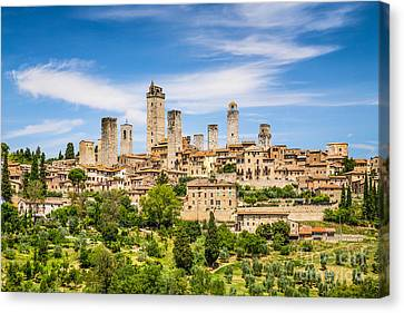 Towers Of San Gimignano Canvas Print by JR Photography