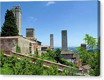 Towers Of San Gimignano, Unesco World Canvas Print by Nico Tondini