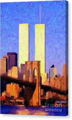 Towers Sunset  Canvas Print