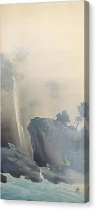 Towing A Boat Canvas Print by Yokoyama Taikan