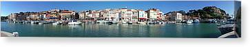 Town And Port, Cassis Canvas Print