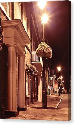 Town At Night Canvas Print by Tom Gowanlock