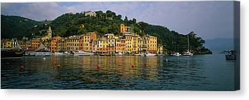 Town At The Waterfront, Portofino, Italy Canvas Print by Panoramic Images