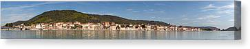 Town At The Waterfront, Rhone River Canvas Print by Panoramic Images