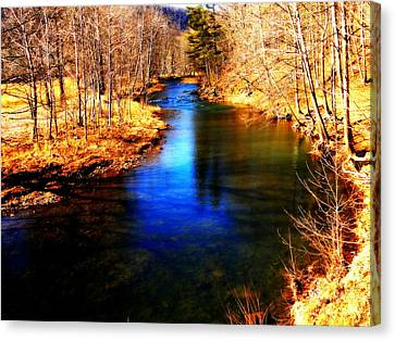 Town Creek Canvas Print by Mary Beth Landis