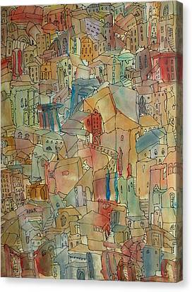 Town I Canvas Print by Oscar Penalber