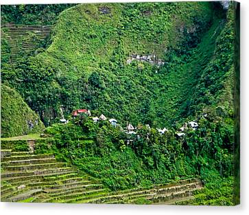 Town In Banaue Rice Terraces Canvas Print