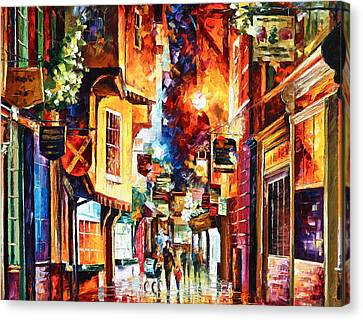 Town In England Canvas Print by Leonid Afremov