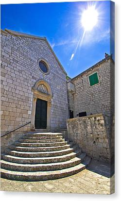 Town Of Hvar Old Franciscan Monastery Canvas Print