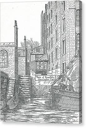 Town Of Ramsgate Wapping From The River Canvas Print