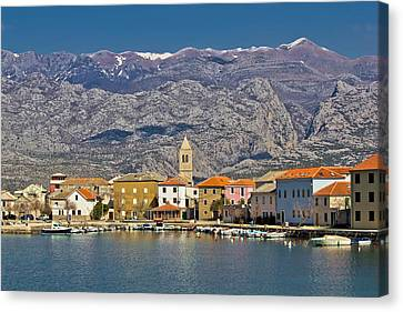 Town Of Vinjerac Waterfrot View Canvas Print by Brch Photography