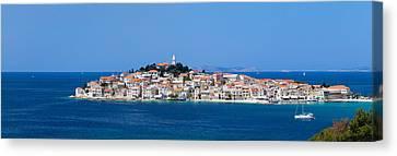Town On A Coast, Primosten, Adriatic Canvas Print