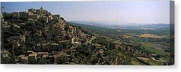 Town On A Hill, Gordes, Vaucluse Canvas Print by Panoramic Images