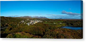 Town On A Hill With 12 Pin Mountain Canvas Print