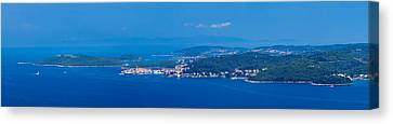Town On An Island, Korcula, Korcula Canvas Print