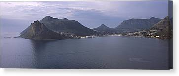Town Surrounded By Mountains, Hout Bay Canvas Print by Panoramic Images