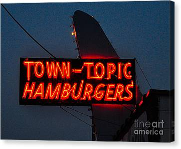 Town Topic  Neon Canvas Print