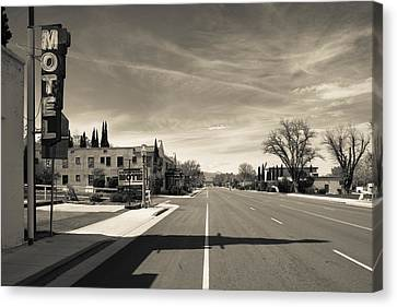 Town View Along U.s. Route 395 Canvas Print by Panoramic Images