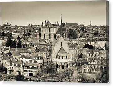 Townscape And Cathedrale St-pierre Canvas Print by Panoramic Images