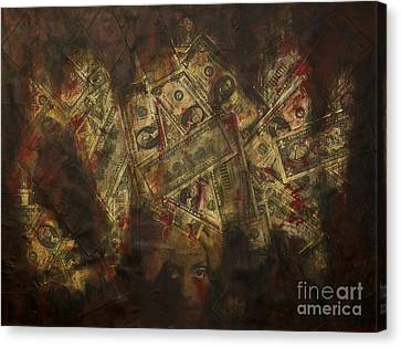 Toxic Greed Canvas Print by Kamil Swiatek