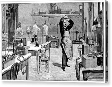 Toxicology Laboratory, 1893 Canvas Print by Science Photo Library