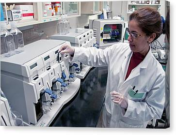 Toxicology Research Canvas Print by Michael J. Ermarth/food & Drug Administration