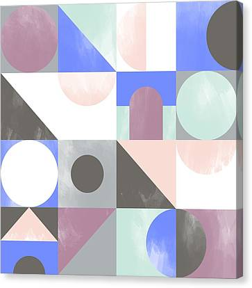 Geometric Canvas Print - Toy Blocks by Laurence Lavallee