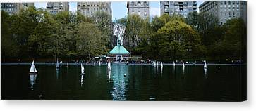 Toy Boat Canvas Print - Toy Boats Floating On Water, Central by Panoramic Images