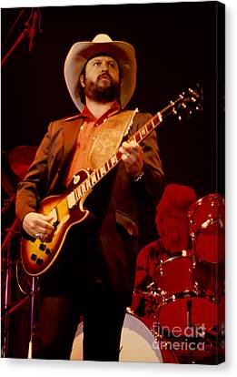 Toy Caldwell Of The Marshall Tucker Band At The Cow Palace Canvas Print
