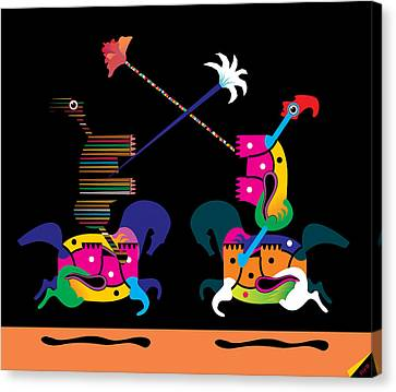 Toy Fight Canvas Print by House Brasil