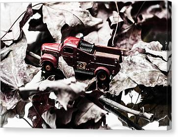 Toy Fire Truck Canvas Print