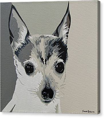Toy Fox Terrier Canvas Print by Slade Roberts