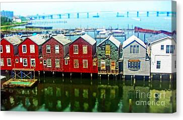 Toy Houses Canvas Print by Nishanth Gopinathan