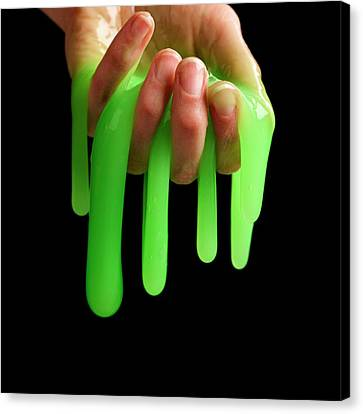 Blend Canvas Print - Toy Slime by Science Photo Library