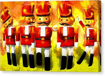 Toy Soldiers Nutcracker Canvas Print