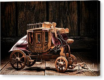 Toy Stagecoach Canvas Print by Olivier Le Queinec
