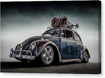 Rusted Cars Canvas Print - Toyland Express by Douglas Pittman