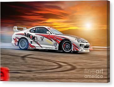 Toyota Drift - Sunset Canvas Print by Martin Slotta
