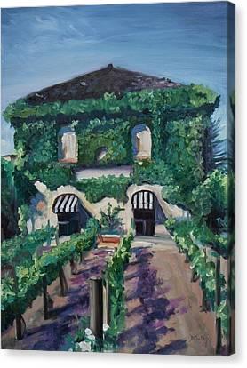 Tra Vigne Canvas Print by Donna Tuten