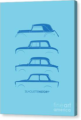 Trabant Silhouettehistory Canvas Print by Balazs Iker