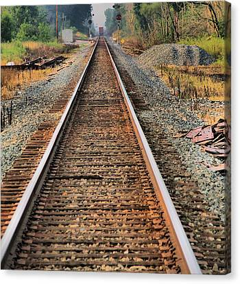 Train Crossing Canvas Print - Track by Dan Sproul