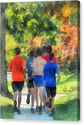 Track Practice Canvas Print by Susan Savad