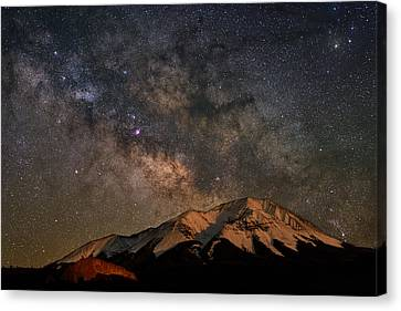 Copyright 2013 By Mike Berenson Canvas Print - Tracking Milk Over West Spanish Peak by Mike Berenson
