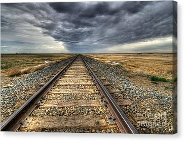 Tracks Across The Land Canvas Print by Bob Christopher