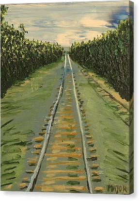 Tracks Between Davis And Woodland Canvas Print