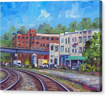 Tracks By The Wedge Brewery Canvas Print by Jeff Pittman