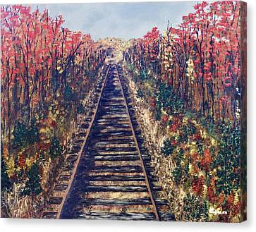 Tracks Remembered Canvas Print by Cynthia Morgan