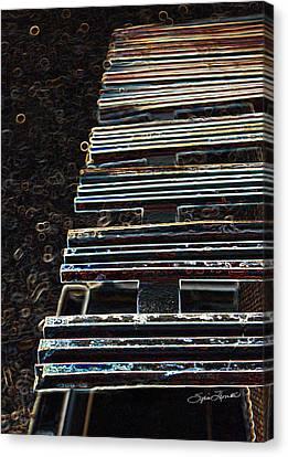 Dean Russo Canvas Print - Tracks by Sylvia Thornton