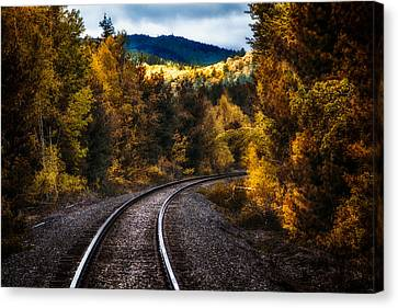 Tracks Through The Mountains  Canvas Print by Bob Orsillo